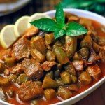 Okra tagine with meat - Bamia
