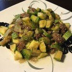 Zucchini with meat مفركة بكوسا