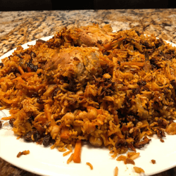 Bukhari Rice wth chicken or meat (Ruz Bukhari)