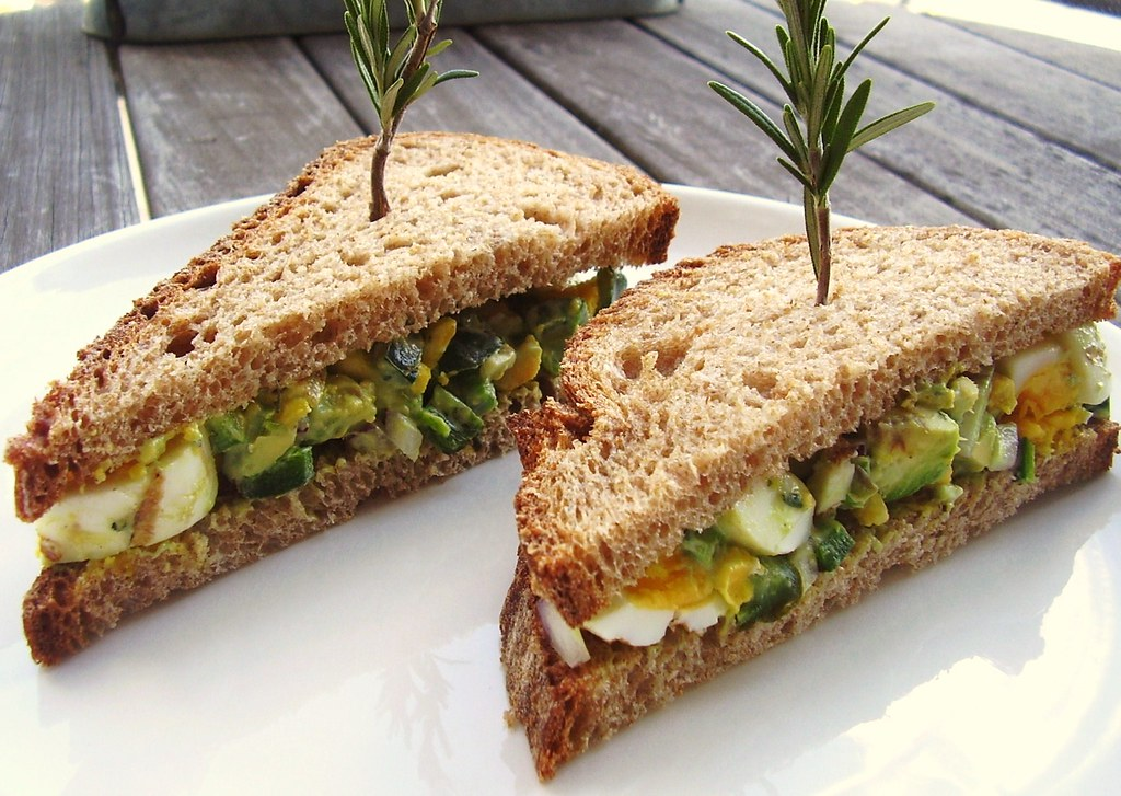 Egg Sandwiches with avocado For kids
