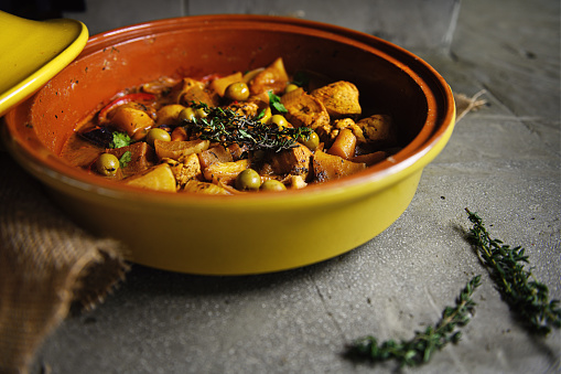 Moroccan Lamb And Olive Tagine